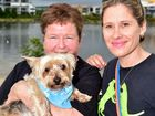 Socials. SCARS have luanched a desexing campaign for dogs, dog walk at Lake Kawana. (from left) SCARS president, Norma Mcrae and Penny Brischke with Maggie. Photo: Che Chapman / Sunshine Coast Daily