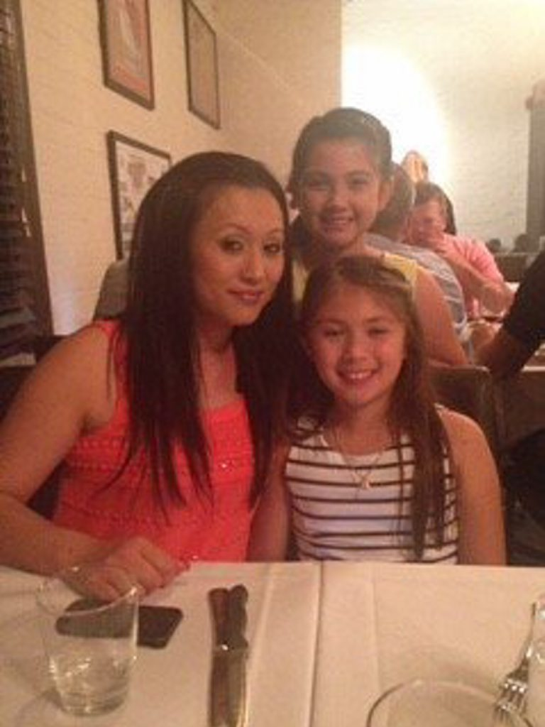 Aileen with her two girls.