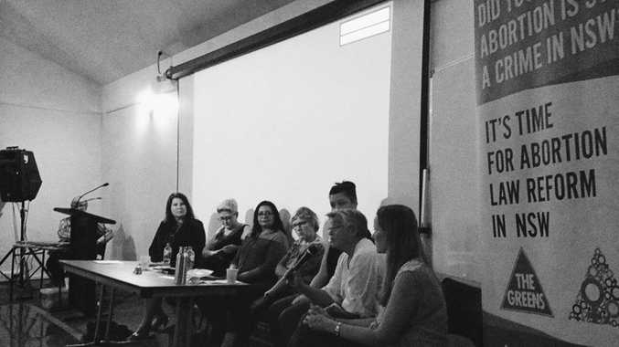 The Greens Abortion Law Reform Forum in Byron Bay last night. Photo Contributed