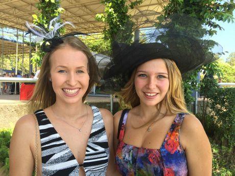 Beerwah friends Kiera Tipper and Melissa Adamson at Ladies Oaks Day. Photo Janine Hill / Sunshine Coast Daily