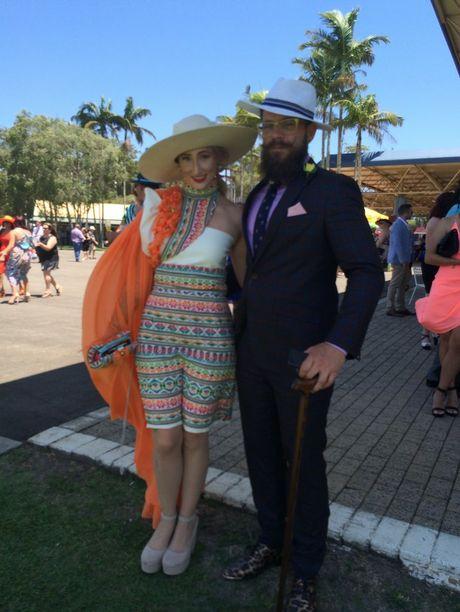 Bianca Clark and her partner Aiden Matthews, of Kawana, take on fashions in the field. Photo Janine Hill / Sunshine Coast Daily