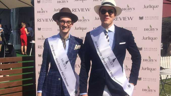 Wyatt Hornery and Riley Featherstone win first and second at Melbourne Cup Doomben Fashions on the Field.