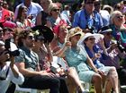 Crowds making the most of the good weather for Melbourne Cup day at Corbould Park, Caloundra.