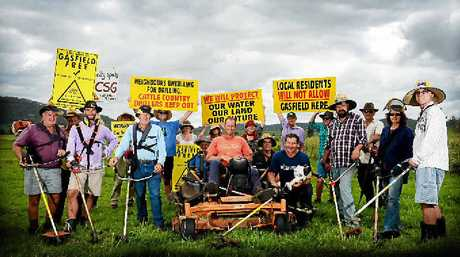 UNITED WE STAND: Former Northern Star photographer Patrick Gorbunovs' image from 2013 showing farmers and anti CSG activists preparing the site of the Bentley Blockade.