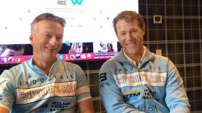 CYCLING FOR KIDS: Cricket legend Steve Waugh and Paralympian John Maclean are undertaking the Captain's Ride to raise money and awareness about rare diseases.