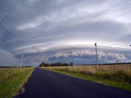Storm building over Coraki