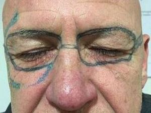 Man wakes up from stag do with 'Ray-Bans' tattooed on face