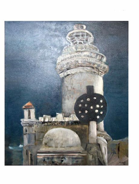 The Lighthouse, Byron Bay (1999) by Judy Cassab. Photo Contributed
