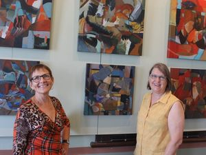 Sarina duo's art exhibit