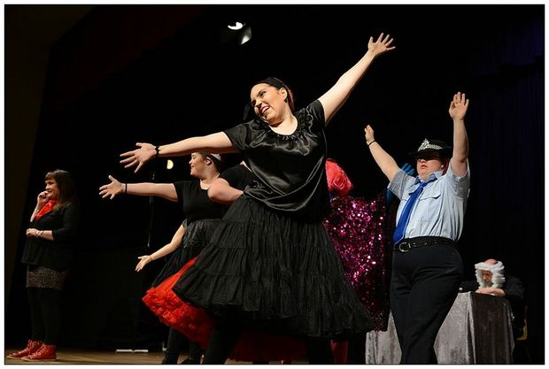 FOCUSSED: Allycia Staples (centre) at the recent High Court Musical Performance held at the Maleny Community Centre.