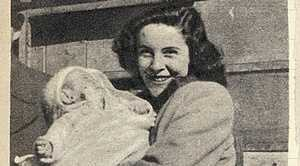 Newspaper article about Judy Cassab and her son John. Photo Contributed Wikimedia Commons