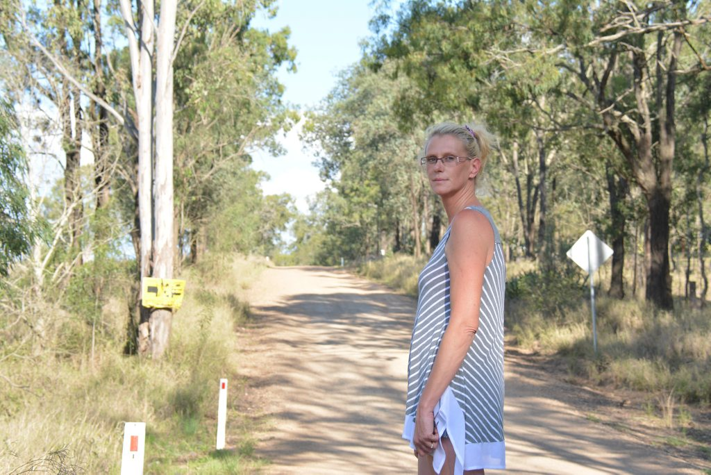 Runnymede's Candice William's is fed up with the poor condition of roads. Photo Kate Darvall/ South Burnett Times