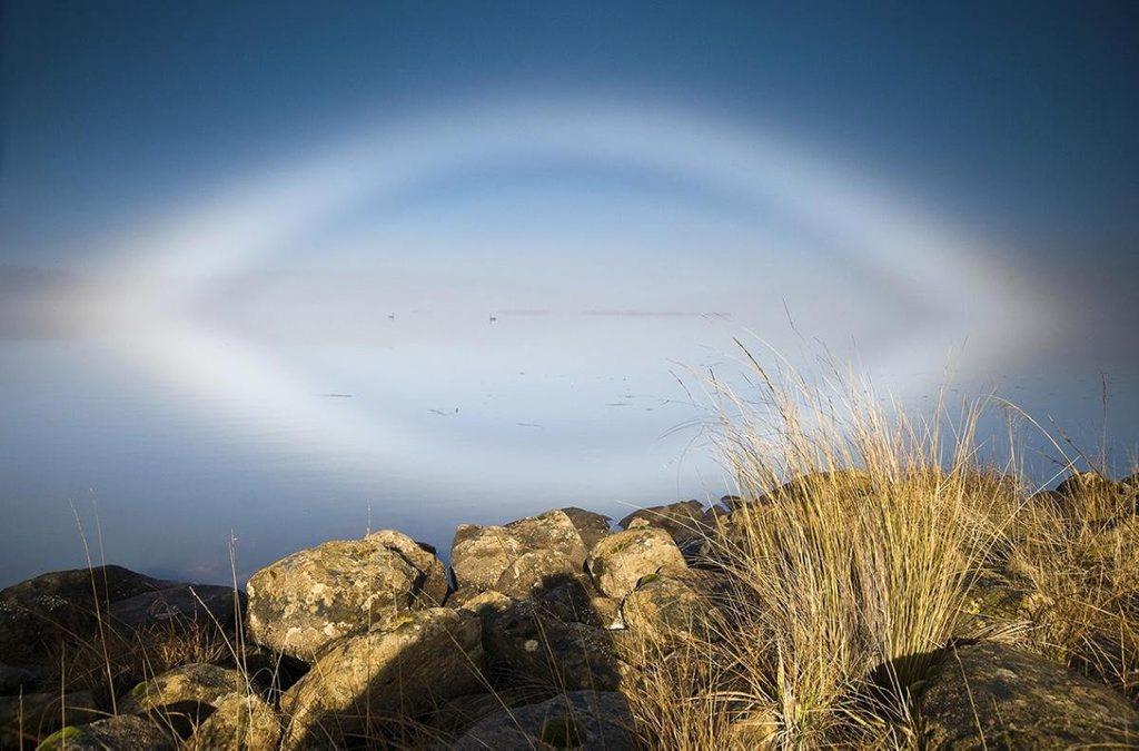 January - Fogbow on Great Lake, Tasmania.