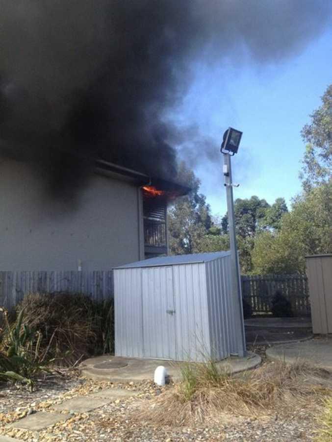 Fire on Peterson Road, Morayfield photo/ Rachel Lang