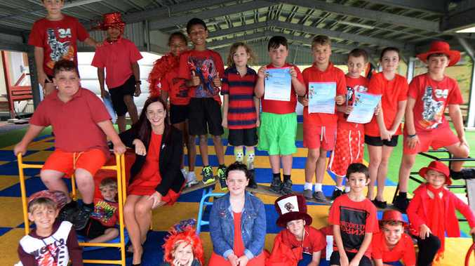 BIG DAY OUT: Member for Keppel Brittany Lauga with students at Coowonga State School on Friday.