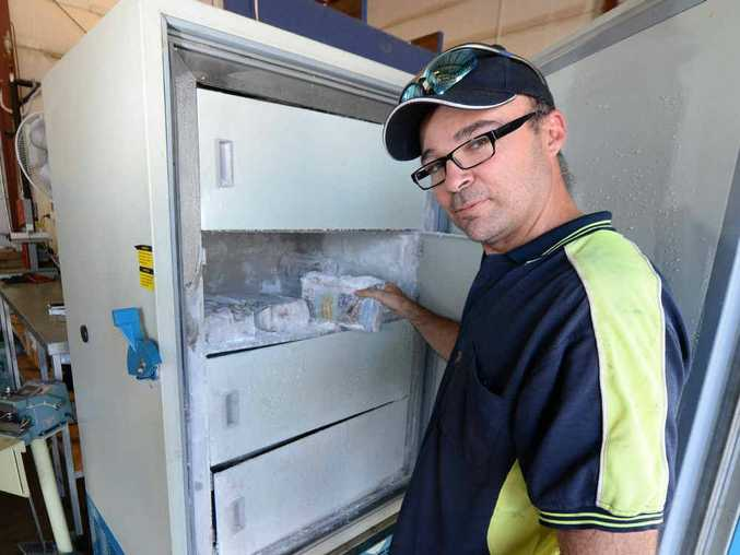 INNOVATION: Ben Rogers from CQ Dry Ice Solutions has developed a way to store dry ice for long periods of time and is looking for funding to roll out his product across Australia.