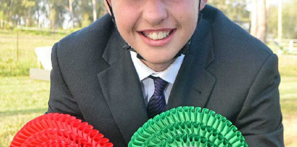 WINNER: Lockyer Valley Riding for Disabled equestrian Josh Dingle shows off his ribbons from the RDA Nationals.