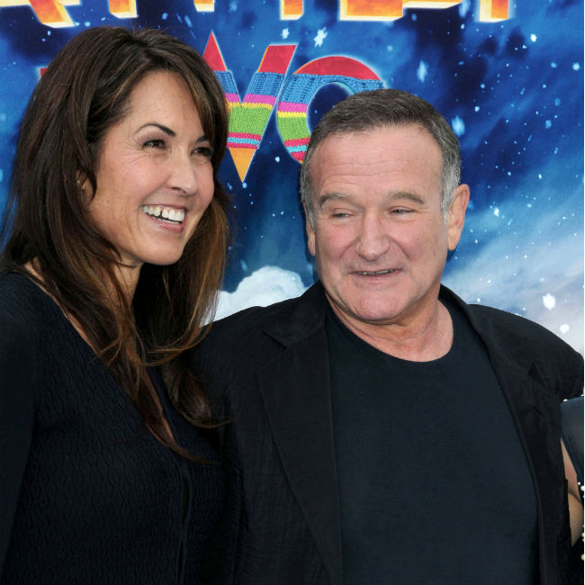 Susan Schneider and late husband Robin Williams