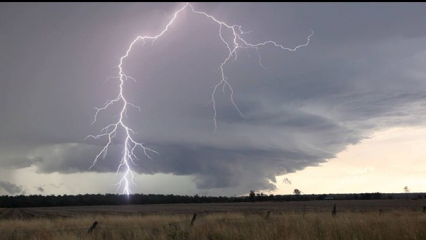 A man has died after struck by lightning at a station 20km from Normanton. Photo: Jimmy Deguara