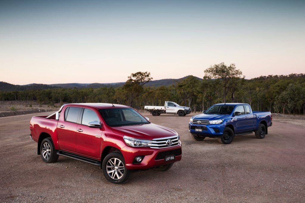 POPULAR RANGE: New HiLux tops the sales charts to help secure first and second national best-seller places for Toyota. Its Corolla model followed it on the podium.