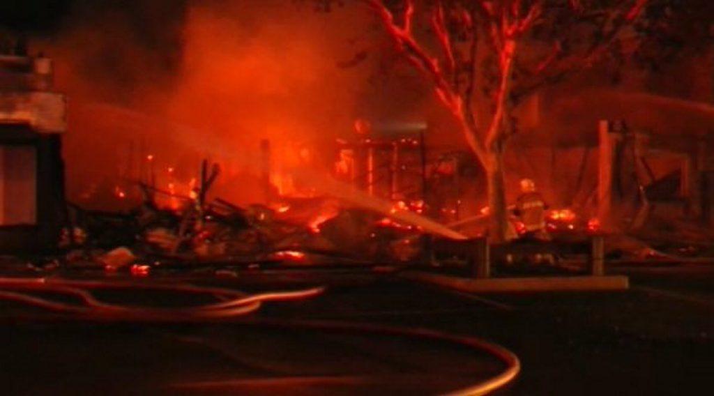 The scene of the fire in Gatton.