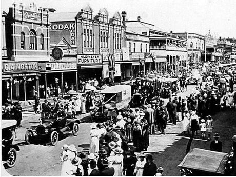 Victory Day in Toowoomba in 1918.