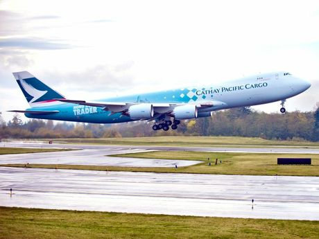 A Cathay Pacific Airways Boeing 747-800F is coming to Wellcamp Airport today.