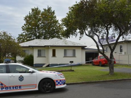 Police outside a Wilsonton home where a woman was stabbed.