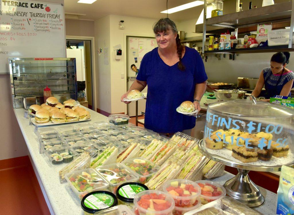 St. Teresa`s Catholic College Tuckshop convenor Lorna O`Connell.