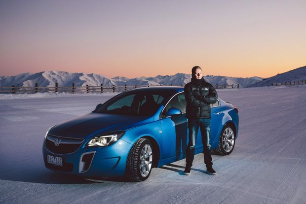 ICE MAN: Holden Racing Team's James Courtney with a Holden Insignia VXR, which is one of his current rides. The 2010 V8 Supercars champ keeps a stable of Holden goodies, preferring the cruisers for everyday duties.