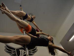 Pole dancing is fantastic way to help upper body
