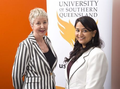 Project leaders Professor Retha Wiesner (left) and Dr Aastha Malhotra.