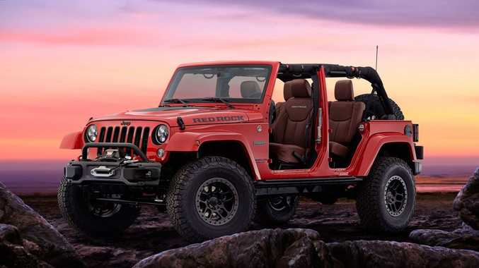 DESERT CRAWLER: Jeep Wrangler Red Rock Concept – based on the Wrangler Rubicon – will inspire a limited run production model