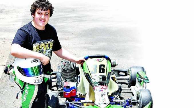 Gunalda's Go Kart racer, Liam Jensen, took part in the Gold Coast invitational Race of the Stars.