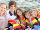LOVING FAMILY: Rachael Moore owes her life to the bravery of her children, Jayden, Kaylea, Cameron, Samantha and Zane (front).