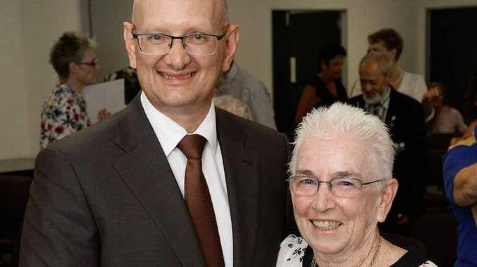 COMMUNITY SUPPORT: Shayne Neumann with this year's Blair Volunteer MP Award winner Steph Shannon.
