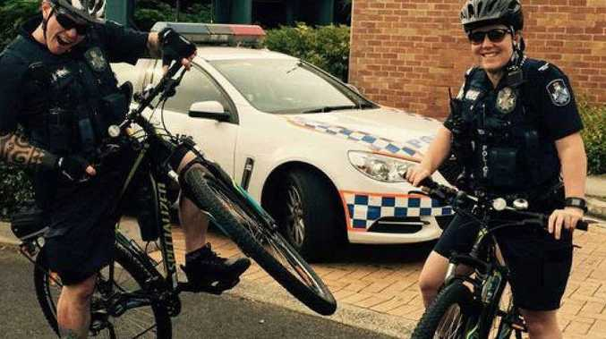 PEDAL POWER: Yamanto police are using bikes to conduct patrols.
