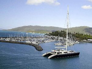Superyacht sails into Airlie Beach