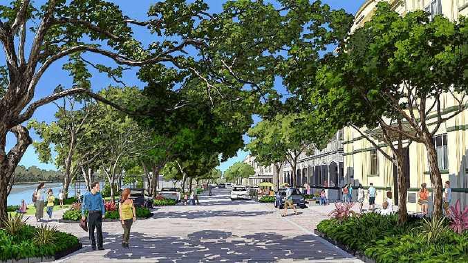 THE FUTURE: The artist's impression for Rockhampton Regional Council's riverbank development.