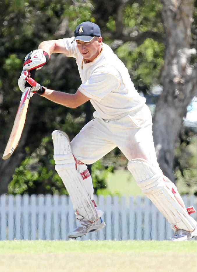 ALMOST THERE: Gympie's Ashley Sippel is on 90 runs and closing in on a century against Nambour.