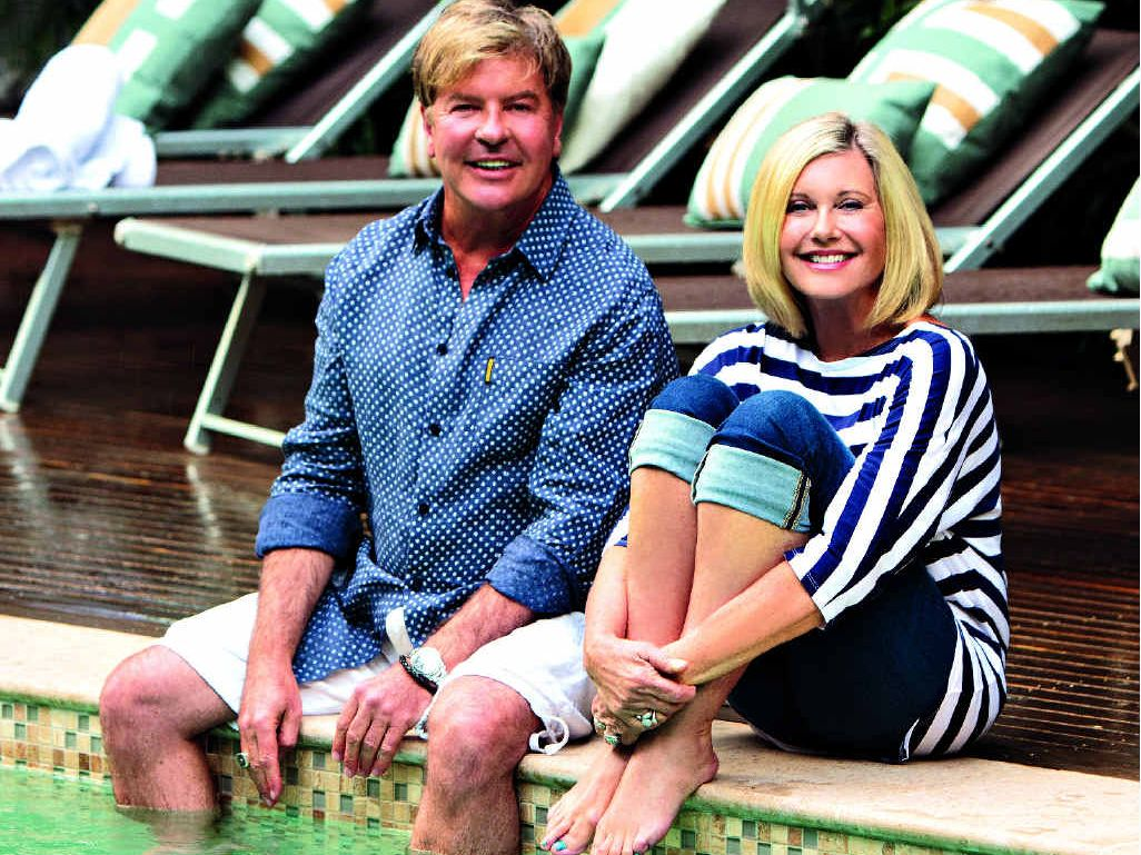 Gaia business partners Gregg Cave and Olivia Newton-John: they saw a for sale sign and decided to have a look.