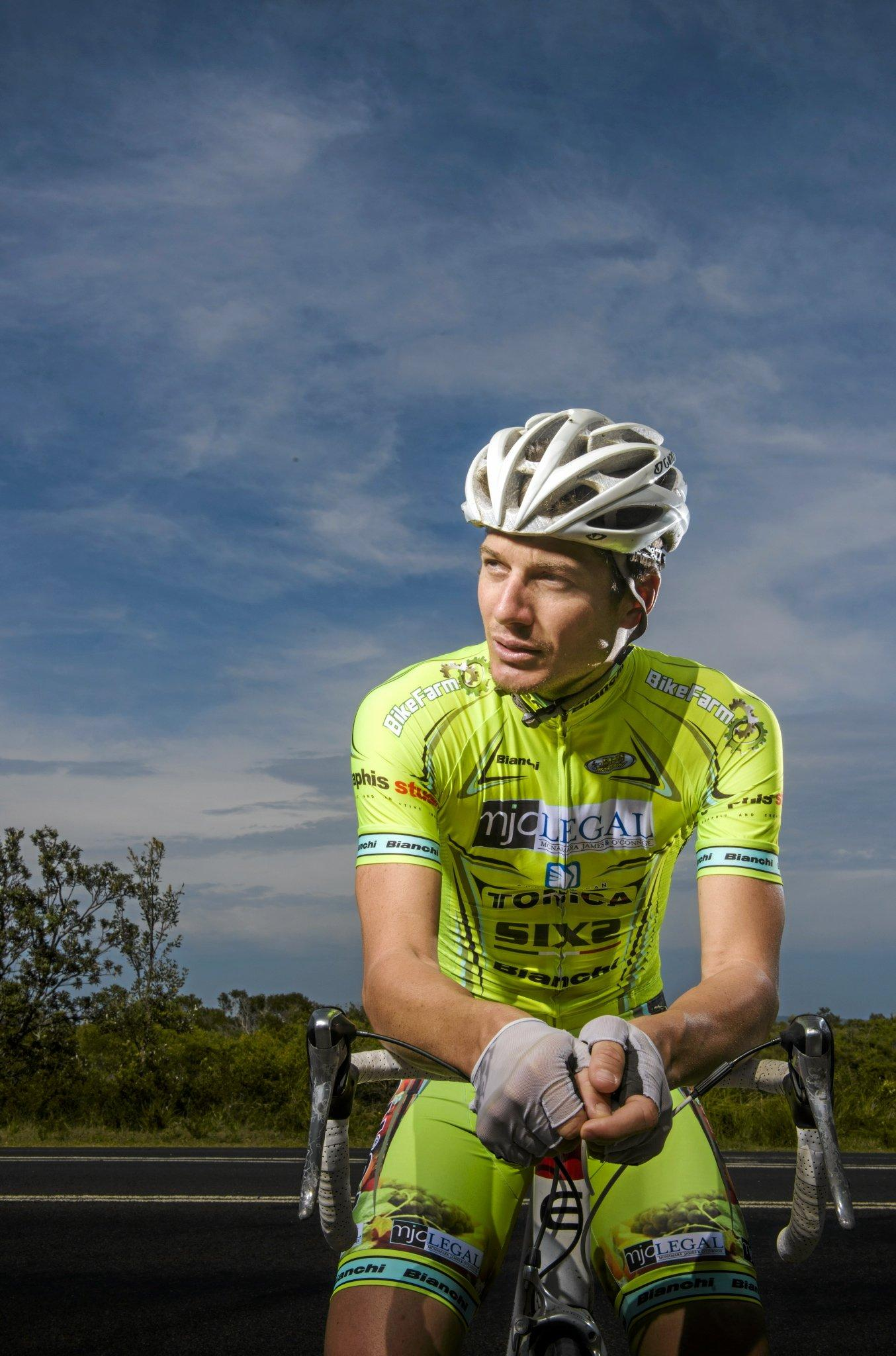 FOR A CAUSE: Yamba's Morgan Pilley, who bases himself in Italy riding enduarnce mountain-bike events - is preparing for a 24 hour ride around the Junction Hill criterium track to raise money for mental health support services in the Clarence Valley.