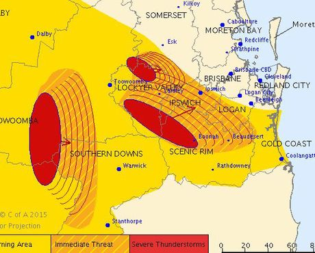 Storm warning issued by the Bureau of Meteorology.