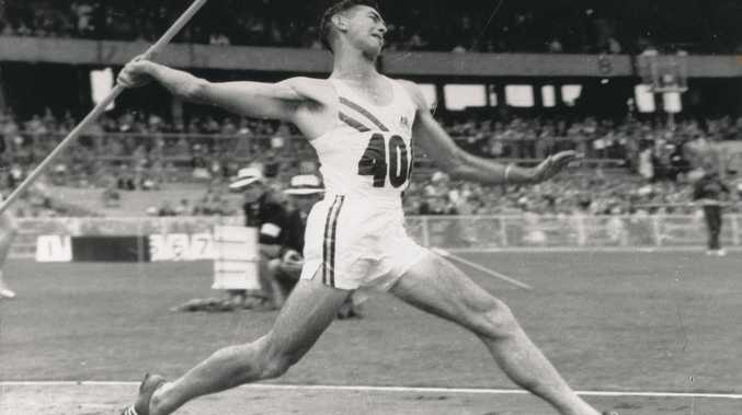 Jim Achurch competing in the 1956 Olympic Games in Melbourne.