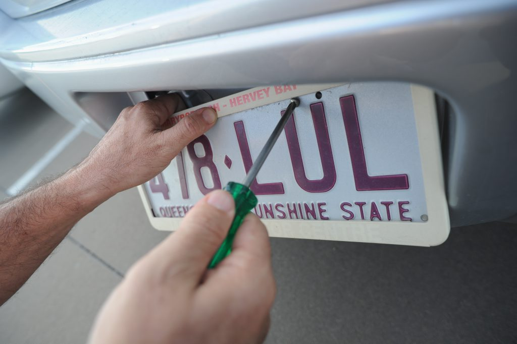 Licence plate theft. Photo: Alistair Brightman / Fraser Coast Chronicle