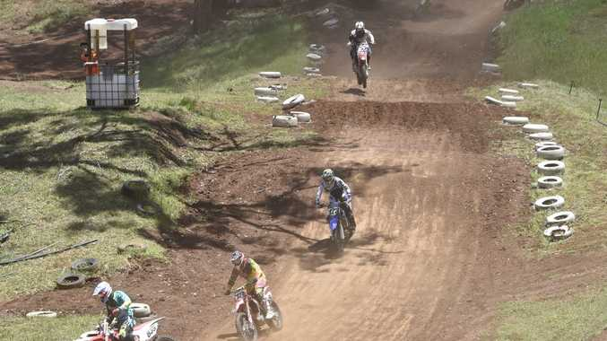 BATTLEGROUND: Riders tackle the Echo Valley track. Photo Bev Lacey / The Chronicle