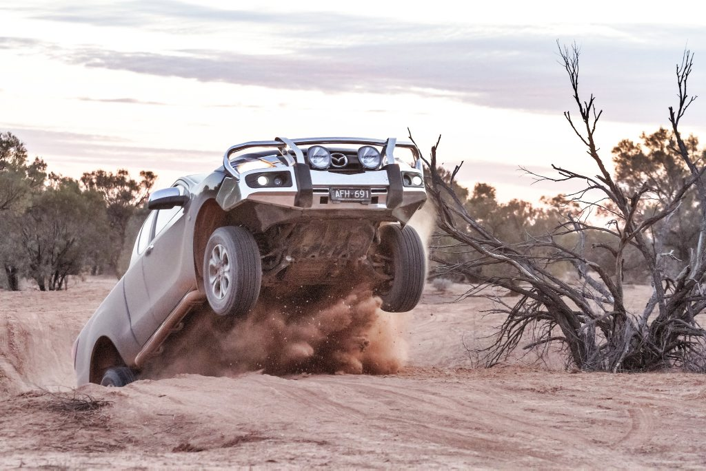 Mazda BT-50 through the South Australian Outback. Photo: Thomas Wielecki
