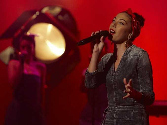 Mahalia Simpson performs on The X Factor.