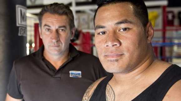 HOPEFUL: Brendon Smith and Herman Ene-Purcell ready for a rematch against Paul Gallen. Photo Nev Madsen / The Chronicle