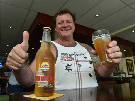 THIRST QUENCHING: Carriers Arms Hotel patron Ben Price gave the Maryborough XXXX beer the thumbs up in November last year.